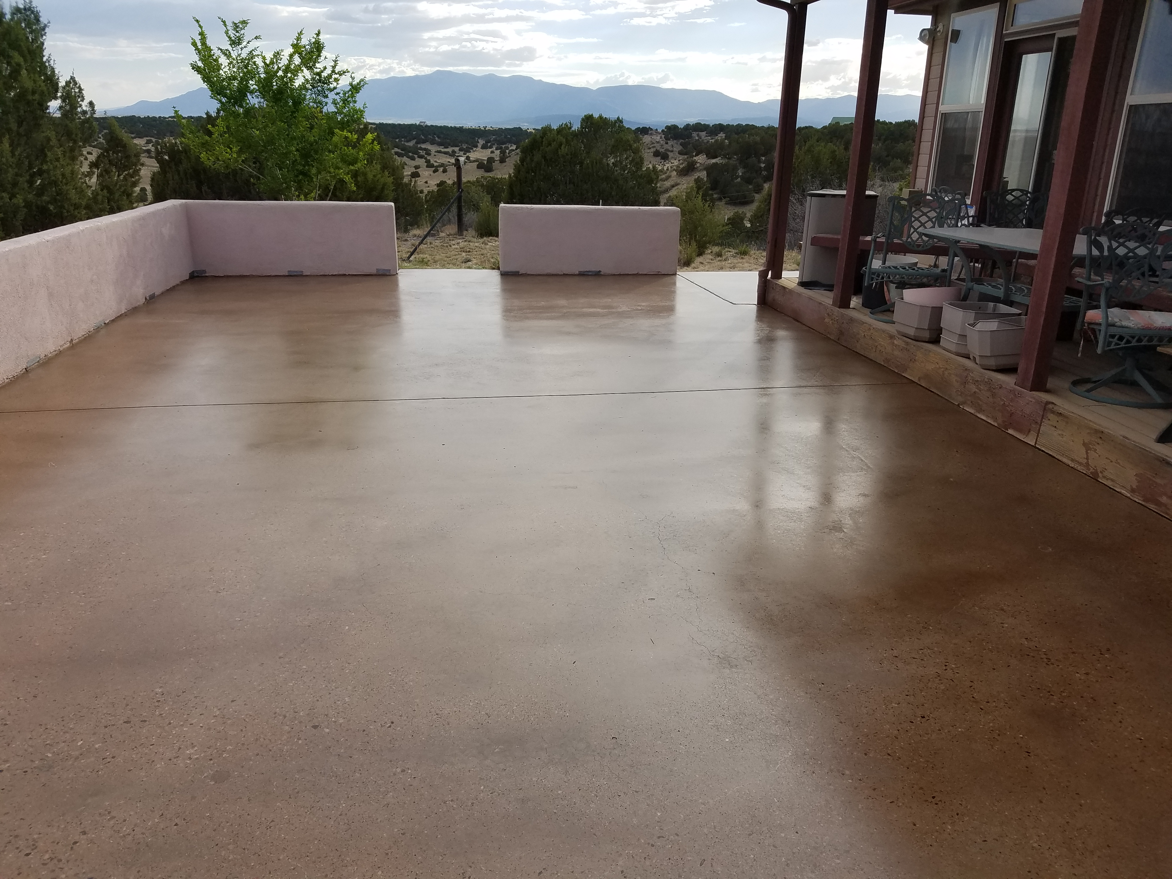 Exterior Stained Concrete