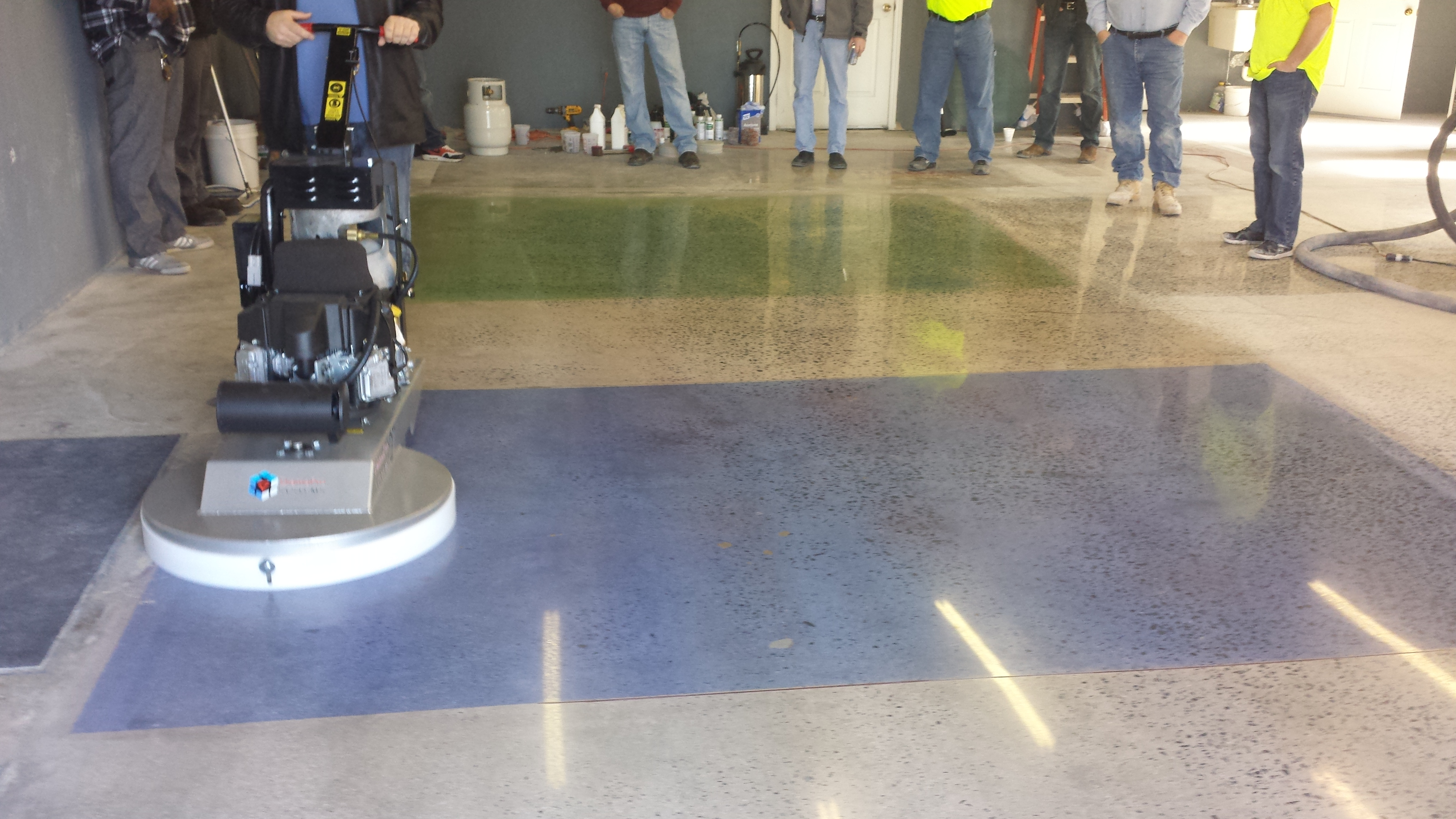 Floor Grinding To Polished (After)